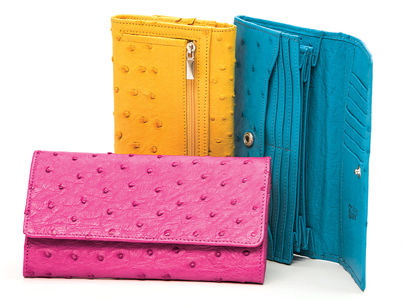 Ladies Ostrich Leather Wallet