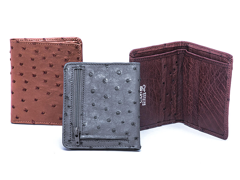 Mens Ostrich Leather Wallet