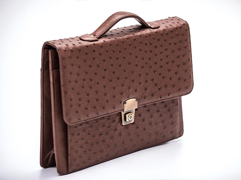 Ostrich Leather Briefcase