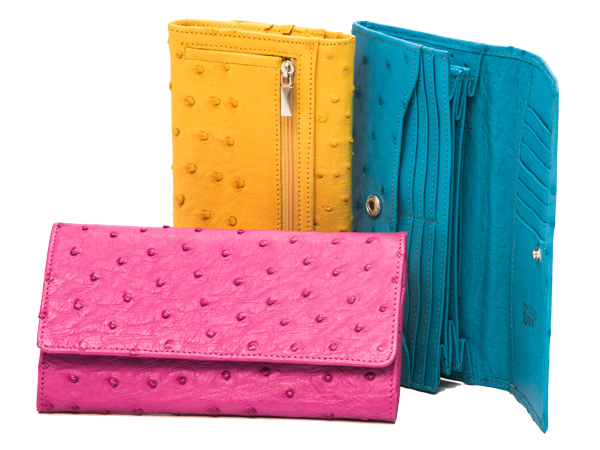 Ostrich Leather Purses