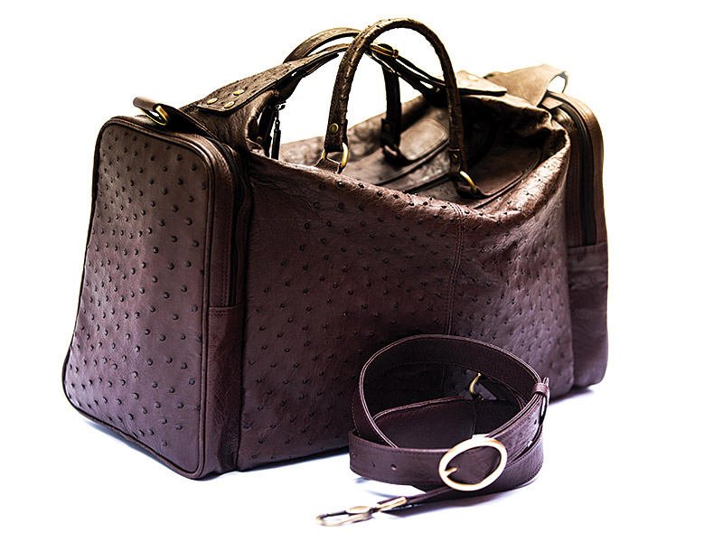 Ostrich Leather Travel Bags