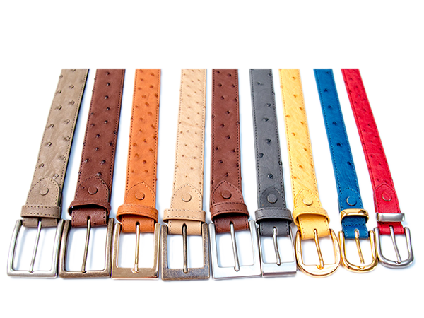 Ostrich Leather Belts